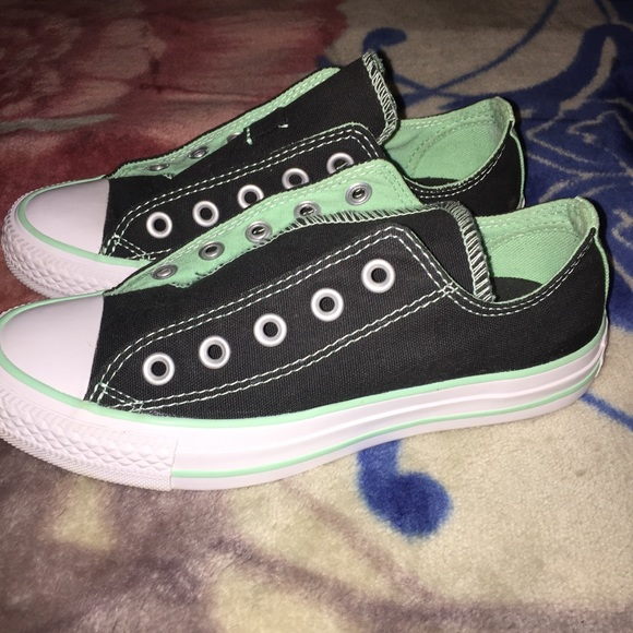 5a217d1d8767e8 Converse Shoes - Converse all star Black mint double Tongue low